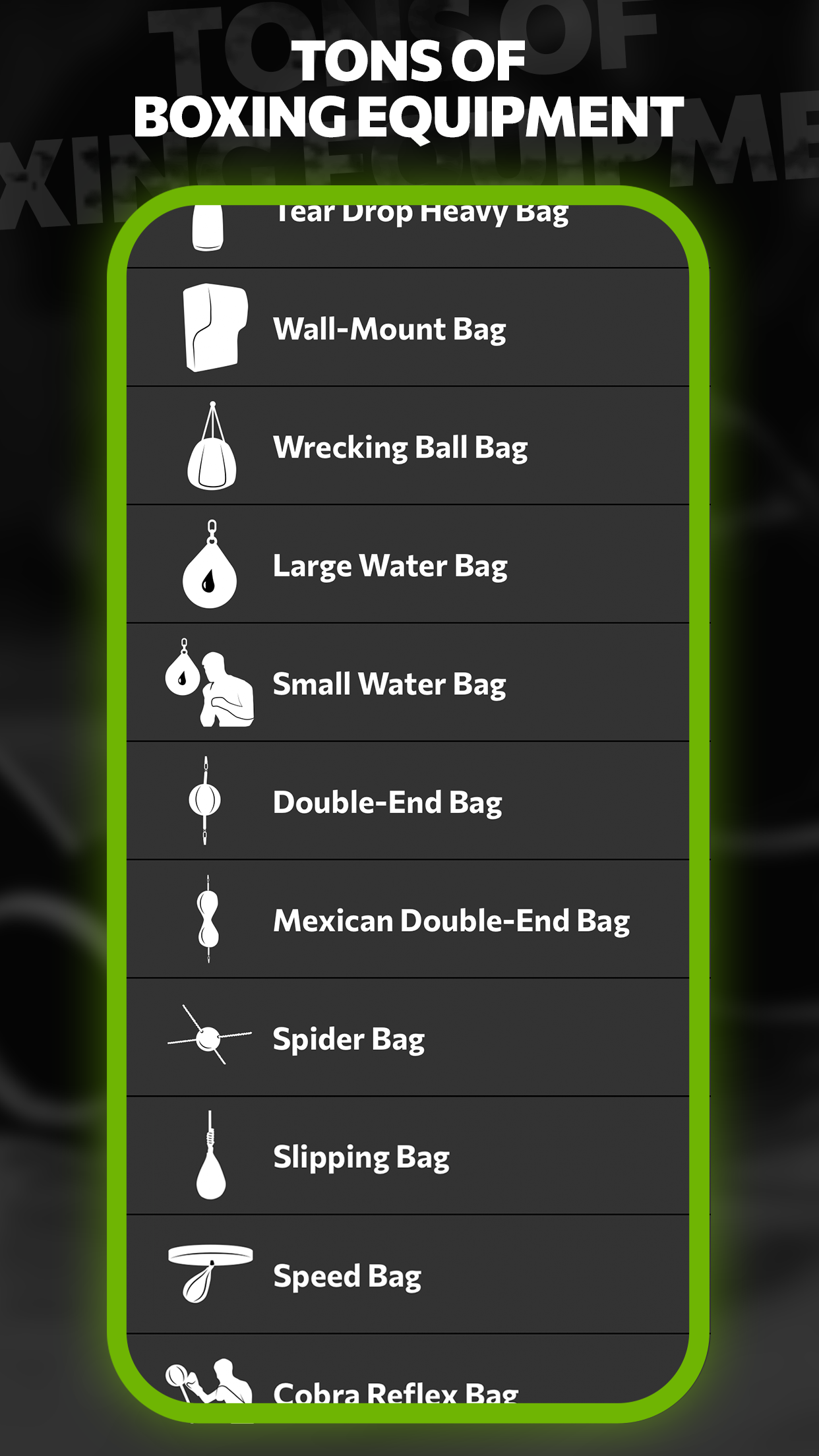 Mobile app with custom workouts